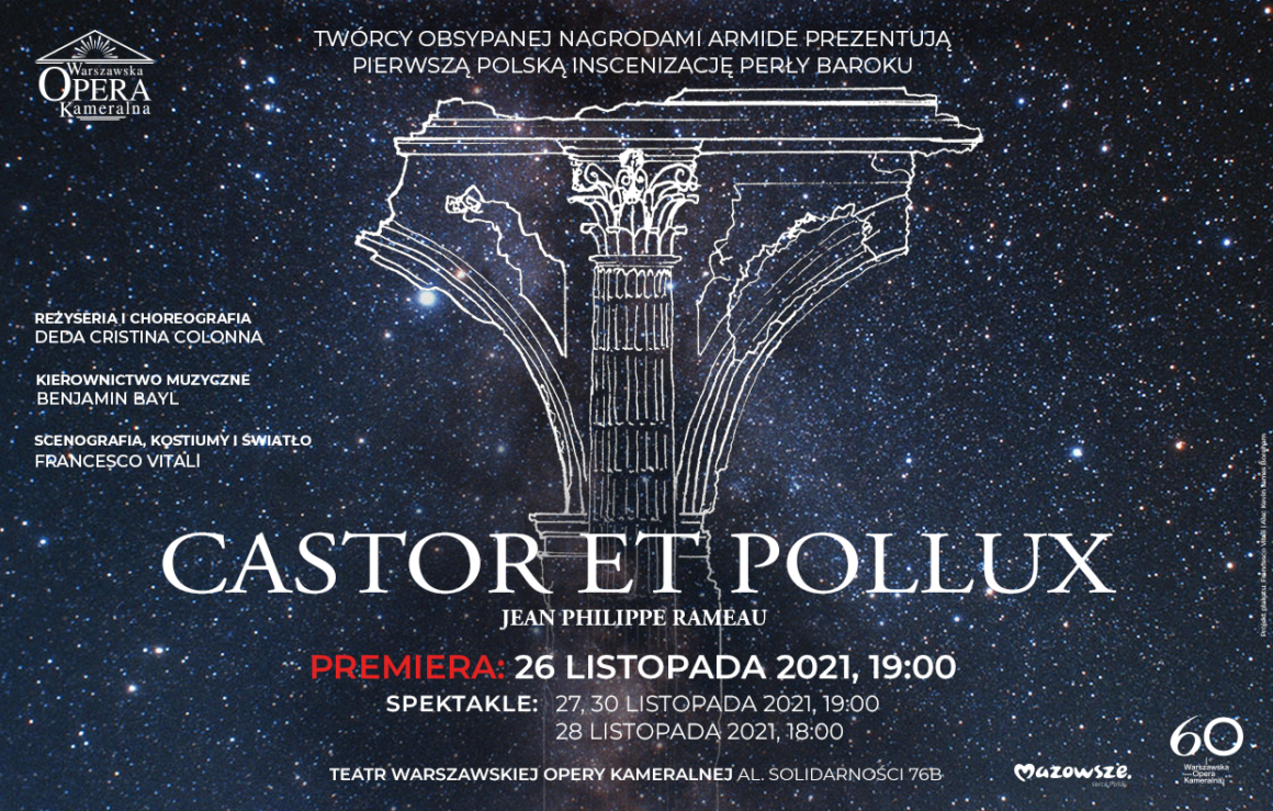 Castor et Pollux / Jean-Philippe Rameau – PREMIERA!!!